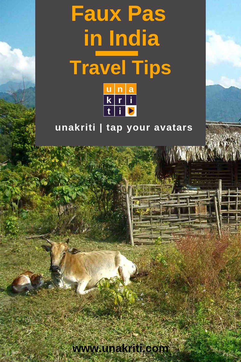 What is the list of things to avoid trouble when traveling in India?