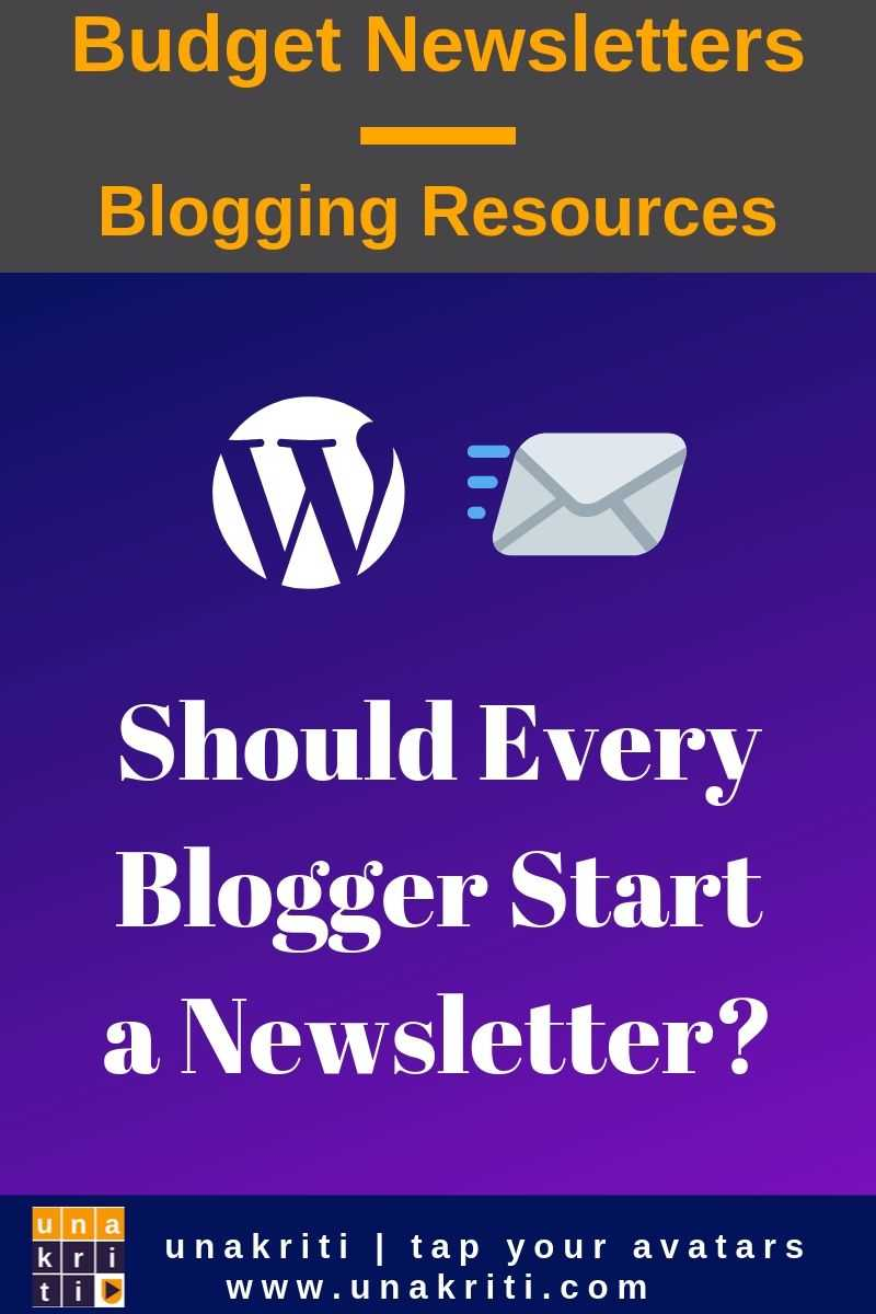 Does every blogger need to start a newsletter?