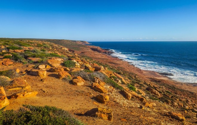 Côte à Kalbarri, Australie-Occidentale