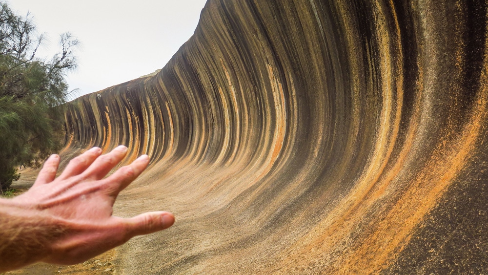 Wave Rock en Australie-Occidentale