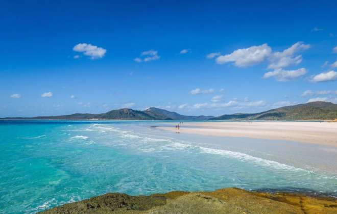 Plage de Whitehaven dans les Whitsunday Islands