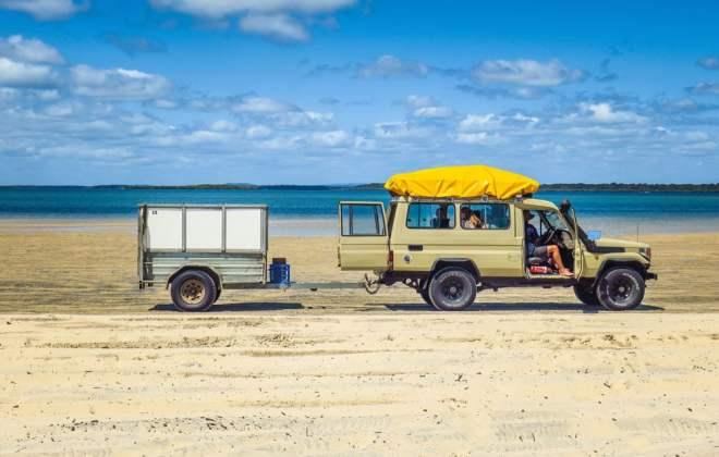 En attendant le ferry pour Fraser Island