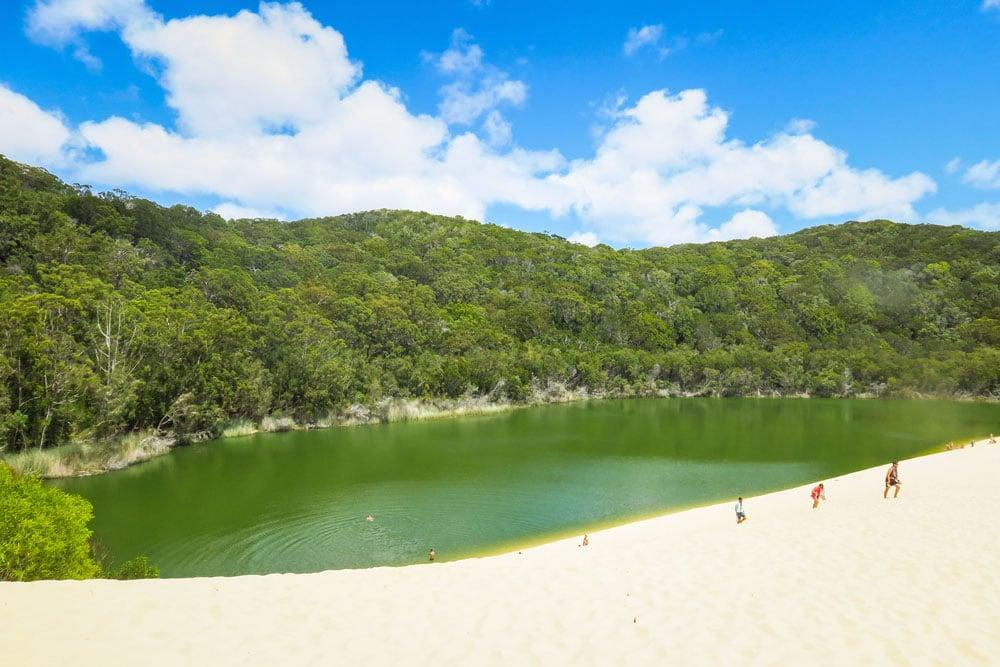 Lac Wabby sur Fraser Island