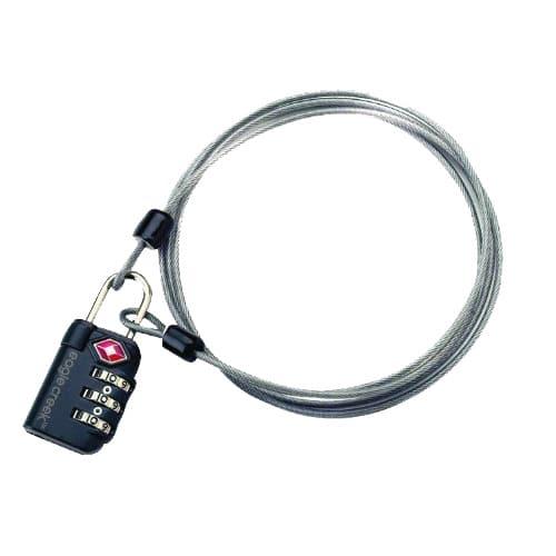 Cable et cadenas à code de sécurité pour le voyage