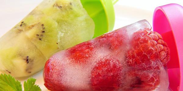 Polos caseros de frutas