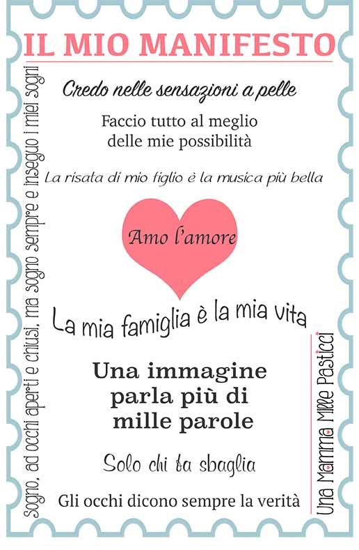 Manifesto mamma blogger - Una Mamma Mille Pasticci
