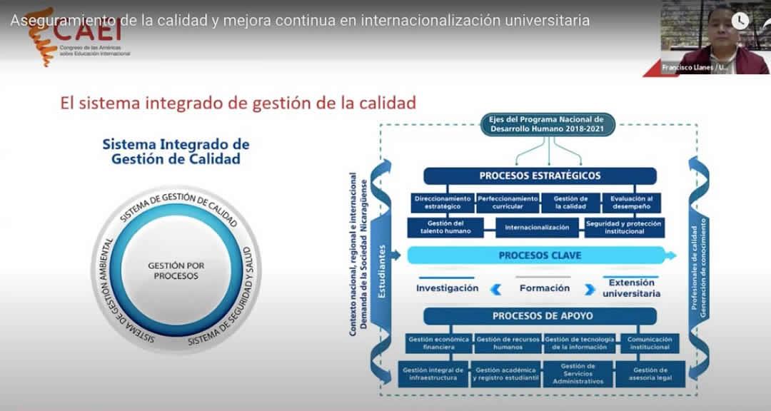 UNAN-Managua participa en el Congreso de las Américas 2021