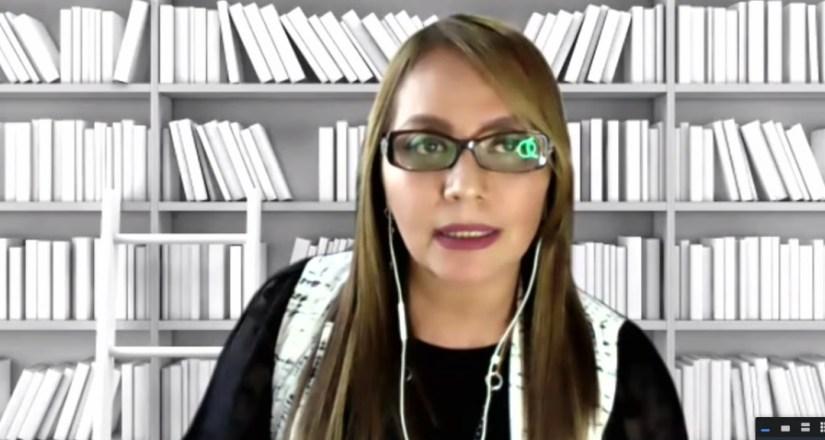 Participación de manera virtual de la Dra. Beatriz Quintero, de México.