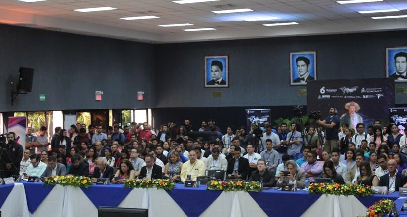 Participantes del Sexto Foro de Televisión Educativa y Tecnologías, en la UNAN-Managua.