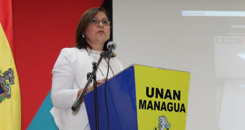Maestra Ramona Rodríguez Pérez, Rectora de la UNAN-Managua, Presidenta del CNU y del CSUCA.