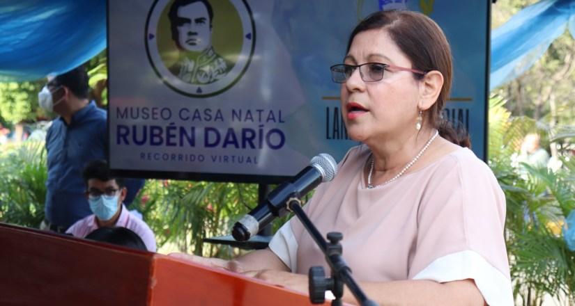 MSc. Ramona Rodríguez, Rectora de la UNAN-Managua, destaca aporte de Darío a la patria