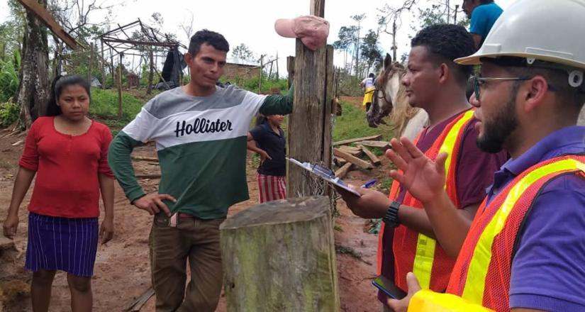 Brigada solidaria de la UNAN-Managua brinda acompañamiento a familias de Bonanza