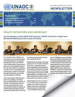 UNAOC Newsletter – September to December 2015