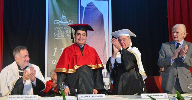 Acceptance Speech of H.E. Mr. Nassir Abdulaziz Al-Nasser at the University of Candido Mendes