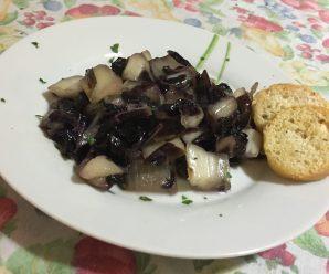 RADICCHIO IN PADELLA (senza glutine, ricetta light)