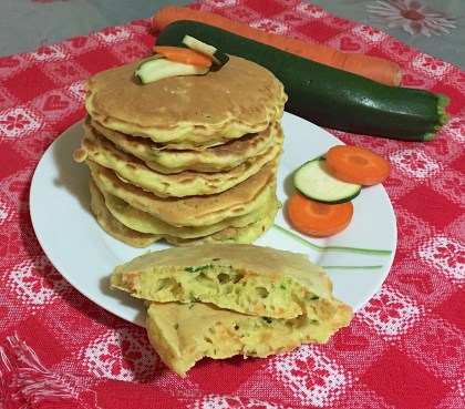Pancakes Salati Carote e Zucchine 4