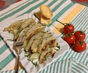 FINOCCHI AL FORNO(senza glutine e latte, ricetta light, vegana)