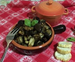 MELANZANE A FUNGHETTO AL FORNO (senza glutine, ricetta light)