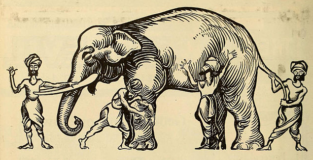 Image result for four blind men and elephant