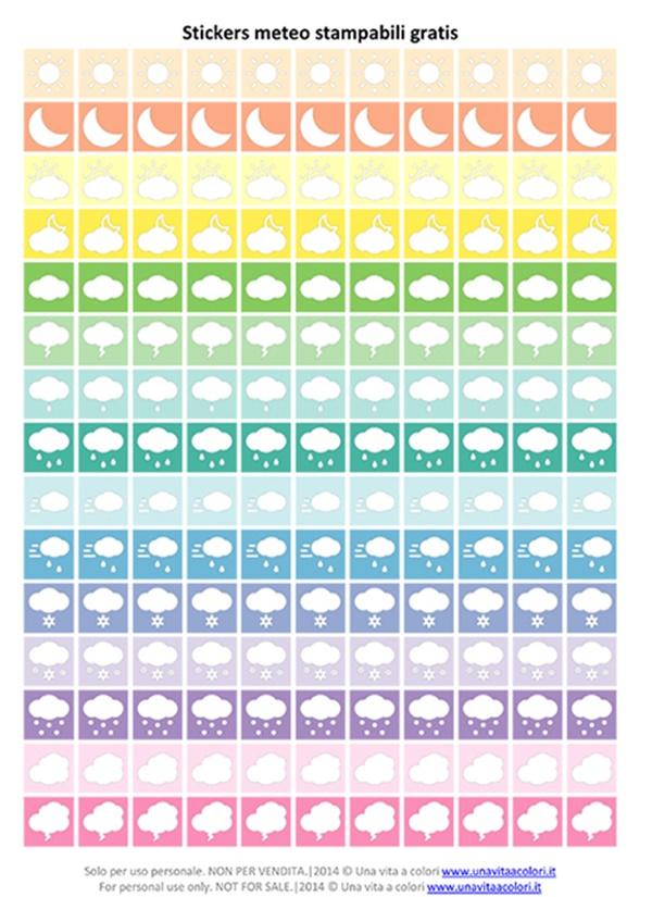 sticker per agenda da stampare