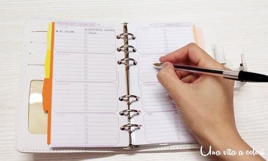 Inserti Filofax 2015, calendario mensile e diario