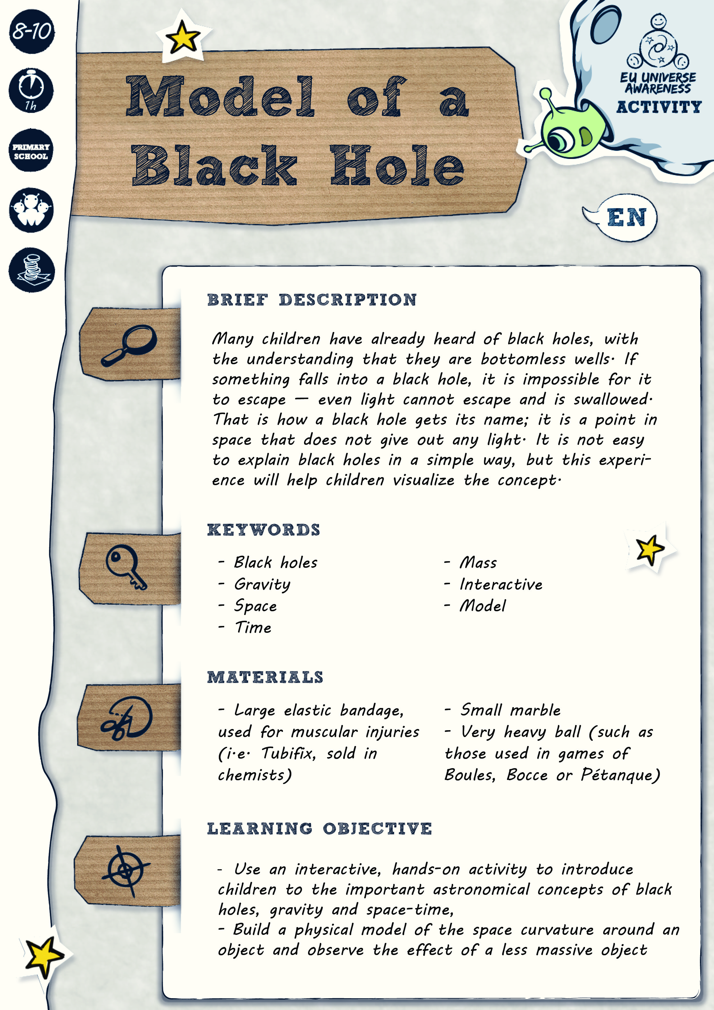 Model Of A Black Hole