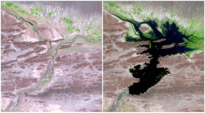 The Dasht River, Pakistan,