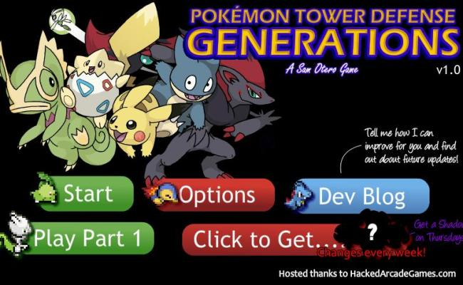 Pokemon Tower Defense 2 Generations Hacked Unblocked