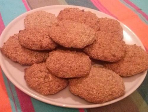 Receta de galletas integrales de avena y salvado