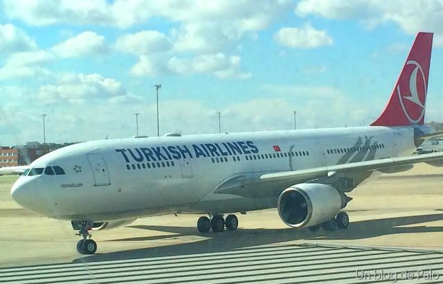 El avión de Turkish desde fuera