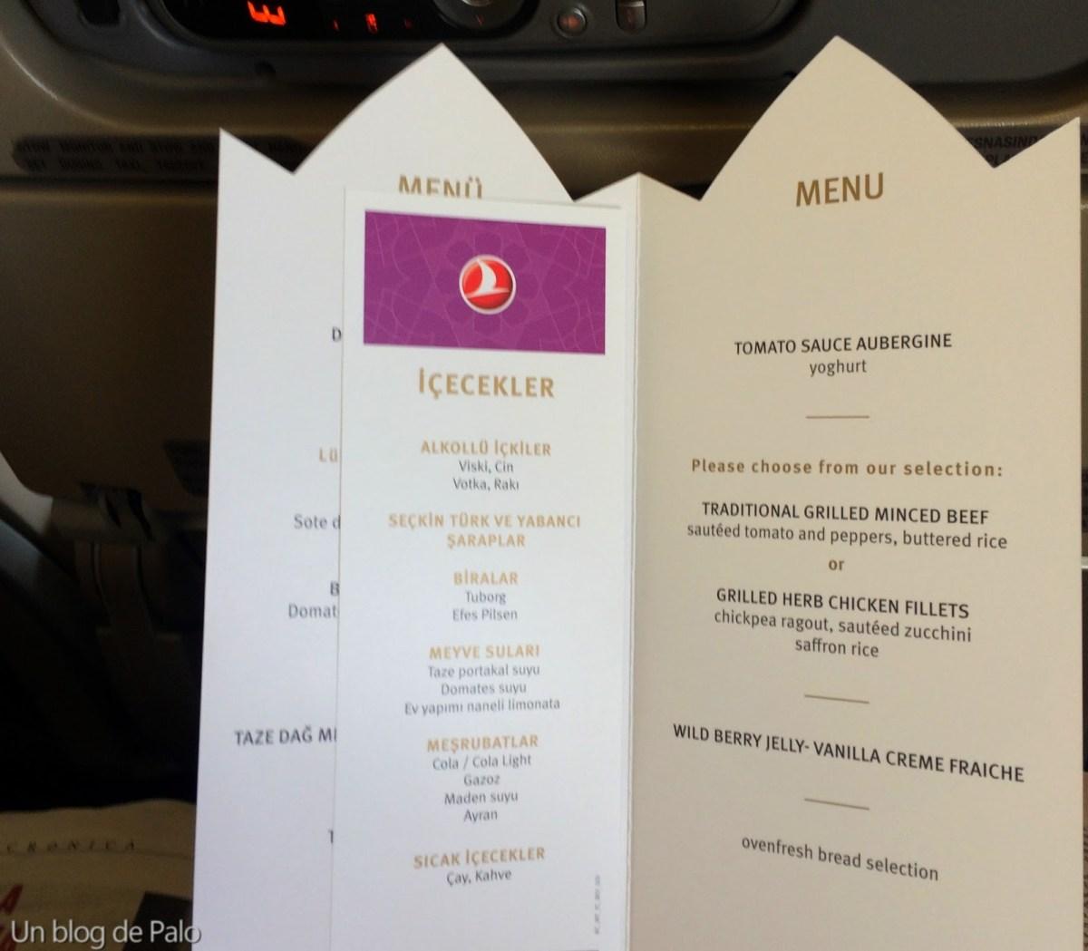 Menú en Turkish