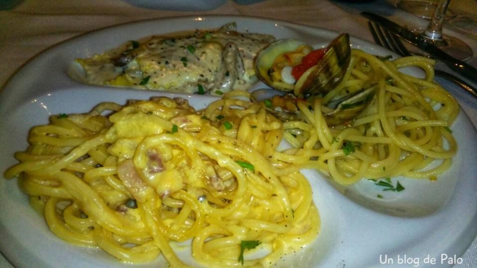 Restaurante Pulcinella, trío de pastas