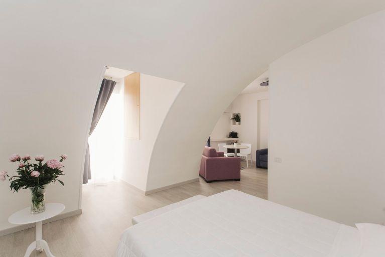Una de las habitaciones de Il Giramondo