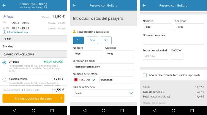 GoEuro la App