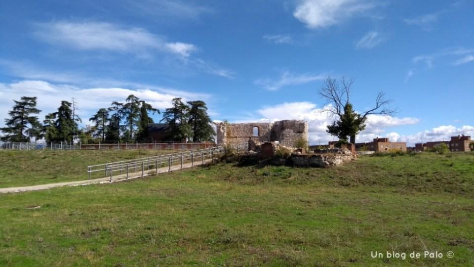 Vista del recinto del Castillo de la Alameda de Madrid