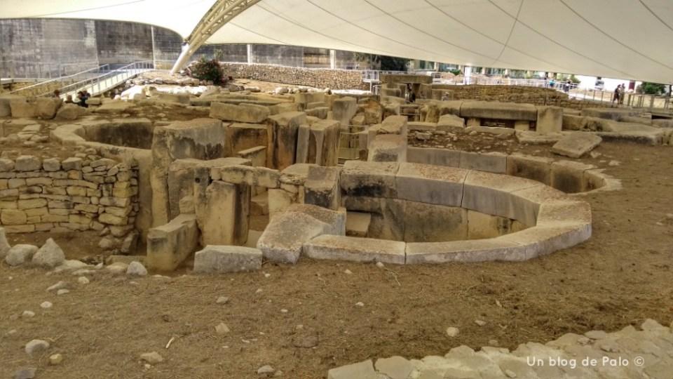 Vistas de los templos megalíticos de Tarxien