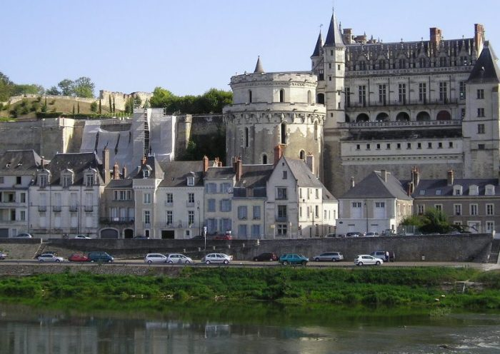 Vista del castillo de Amboise Castillos del Loira