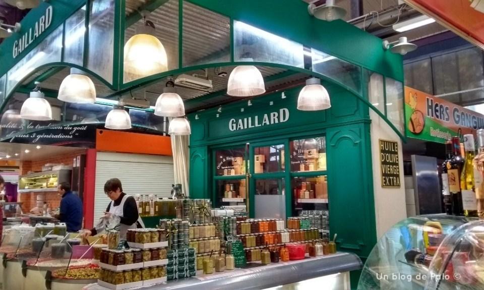 Puesto del mercado de Les Halles en Narbona