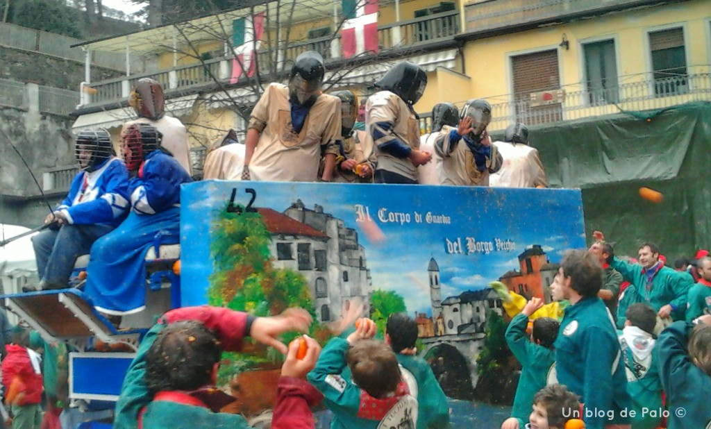 Carnaval de Ivrea Batalla de naranjas