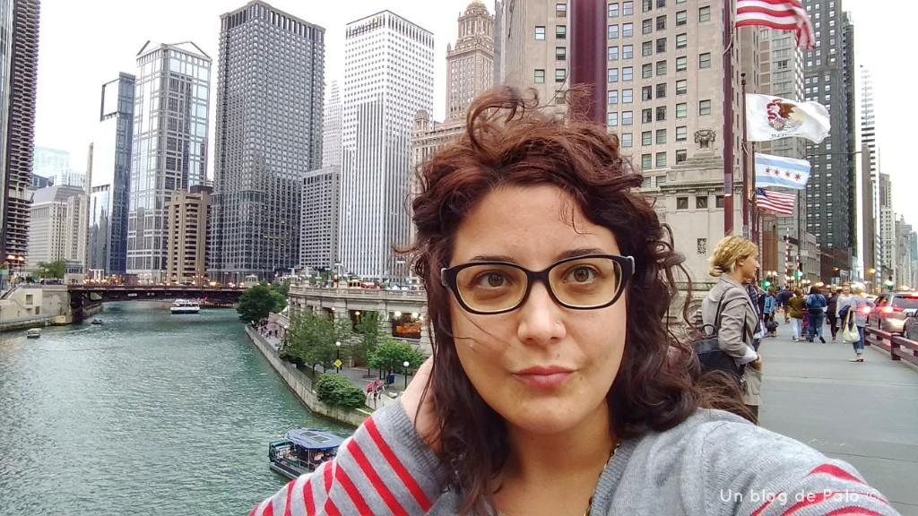 Tarde de viento en el río Chicago