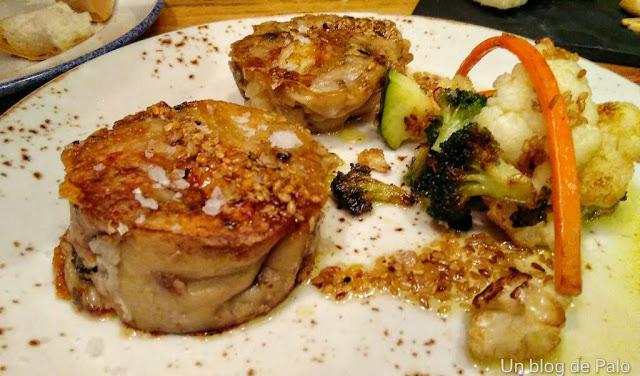 Timbal de manitas de cerdo, iPan iVino en Salamanca restaurante