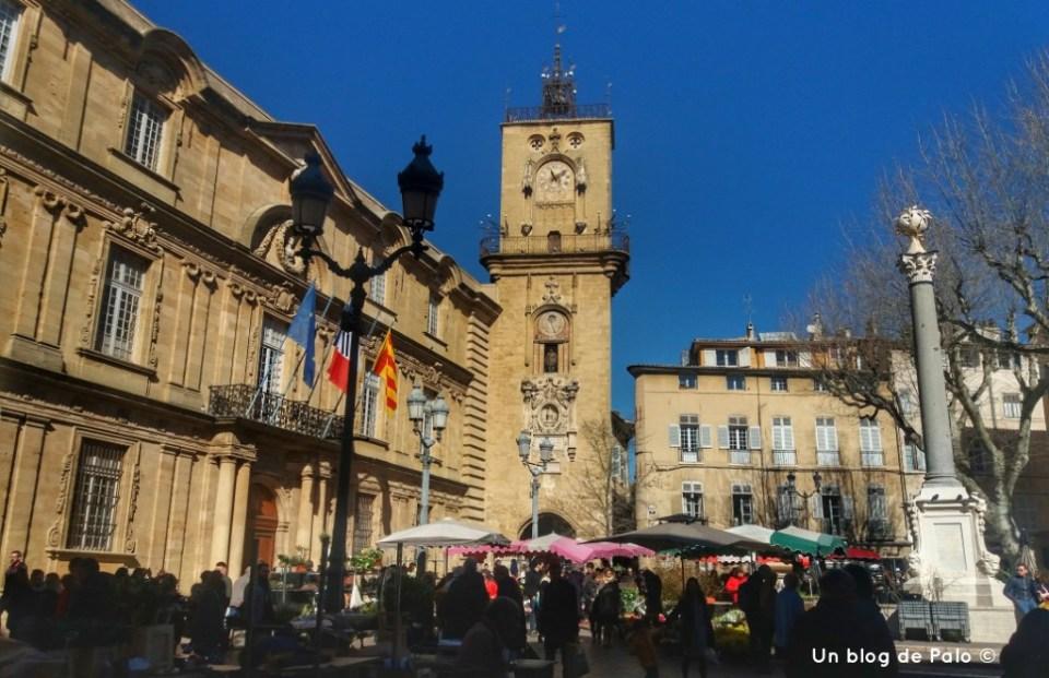 Plaza del Ayuntamiento en Aix en Provence