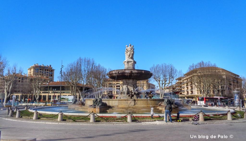 Fuente de la Rotonda en Aix en Provence