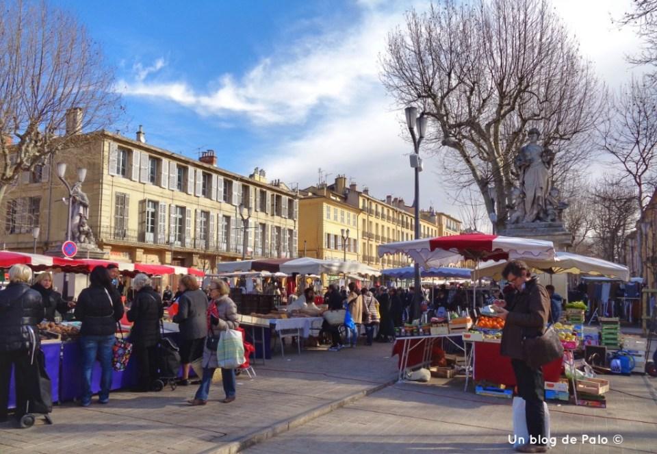 Mercado del paseo Mirabeau