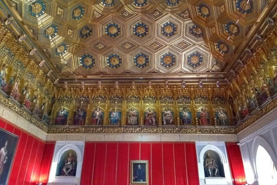 Interior del Alcazar que ver en Segovia