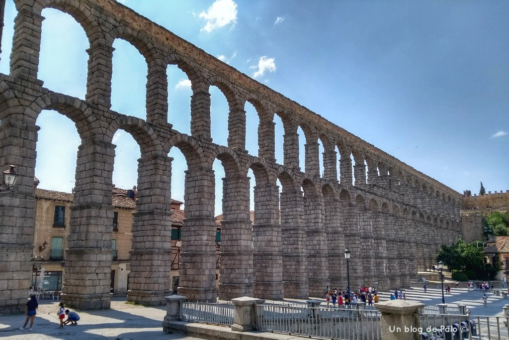Vista del Acueducto romano de Segovia