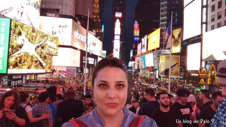 Visitando Times Square en Nueva York
