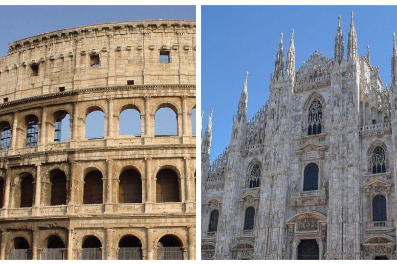 Roma o Milán qué elegir