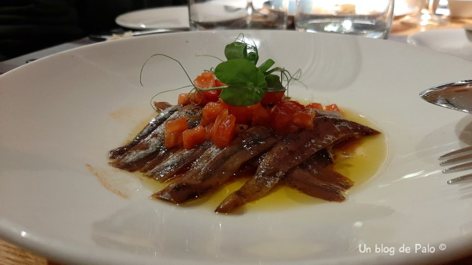 Anchoas en La Maruca Madrid
