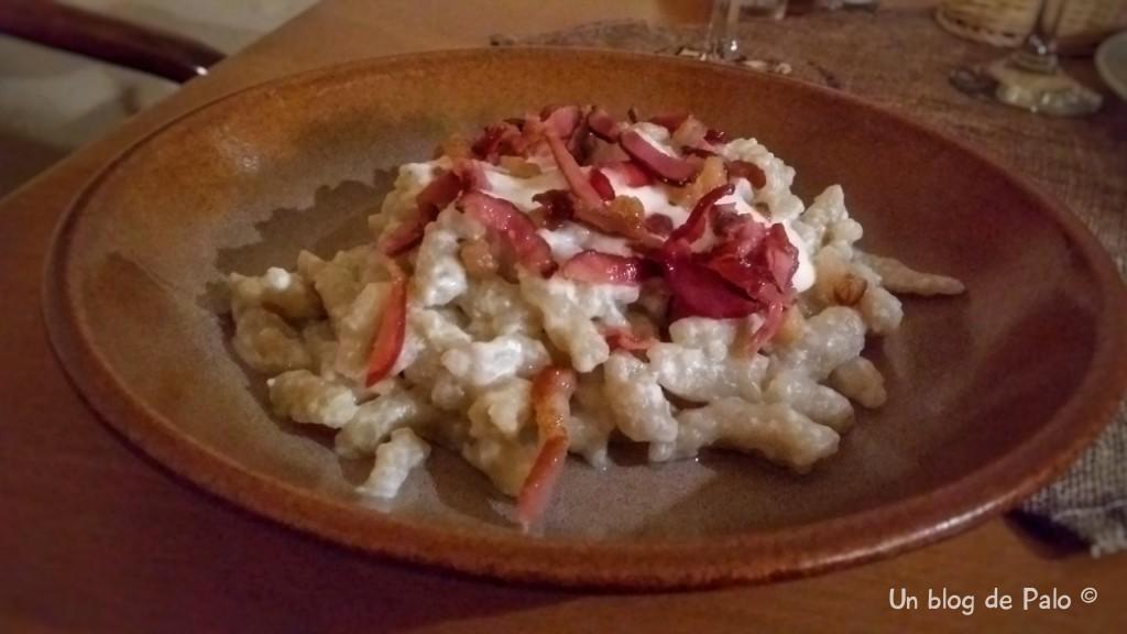 El plato que probamos en el centro de Bratislava